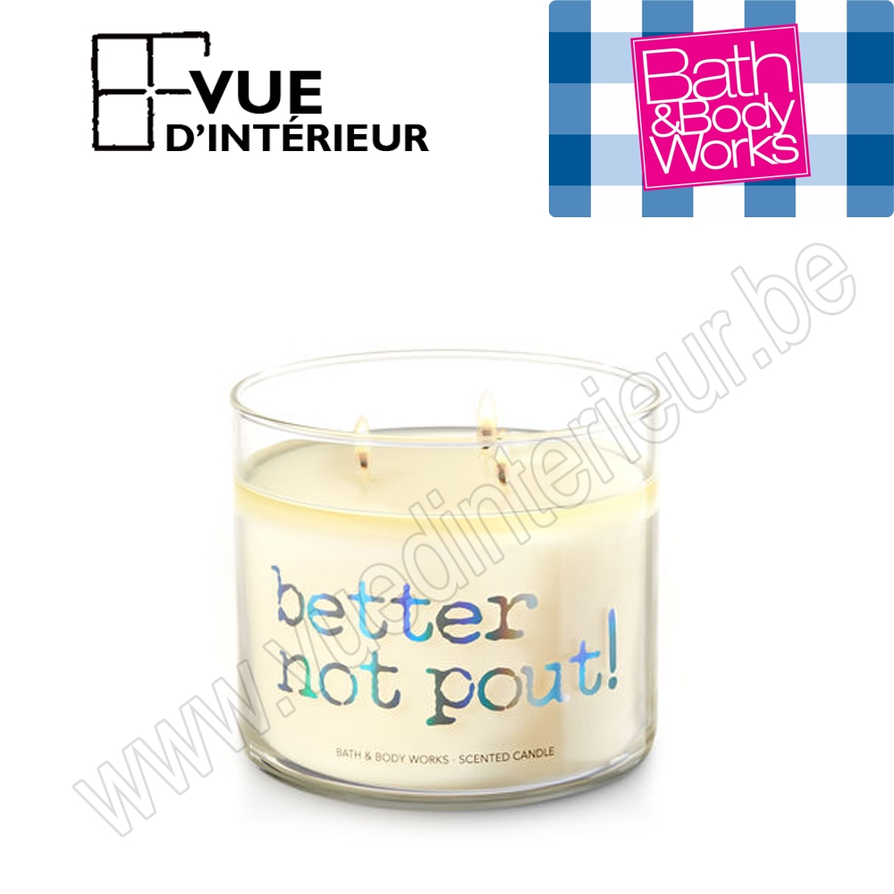 Bougie Parfum?e Better Not Pout 3 M?che 411Gr Bath And Bodyworks