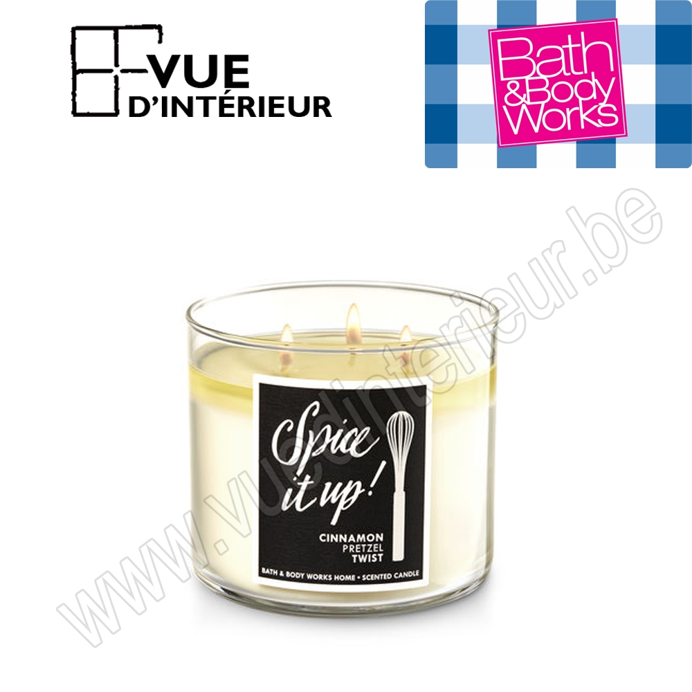 Bougie Parfum?e Spiced It Up 3 M?che 411Gr Bath And Bodyworks
