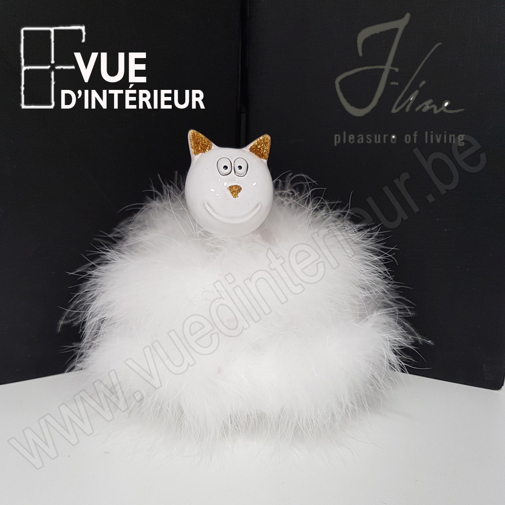 Chat Plumes T?te Cot? Mm