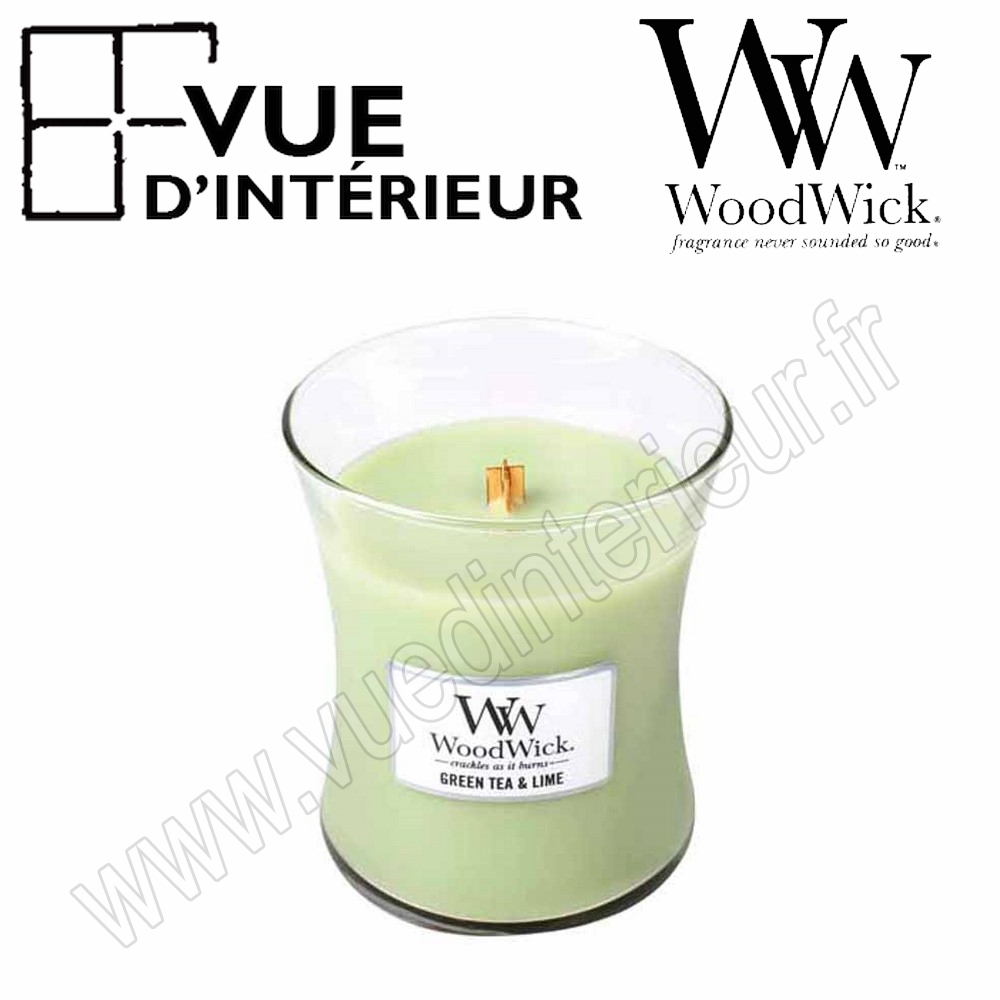 Jar Medium WoodWick Green Tea Lime Medium