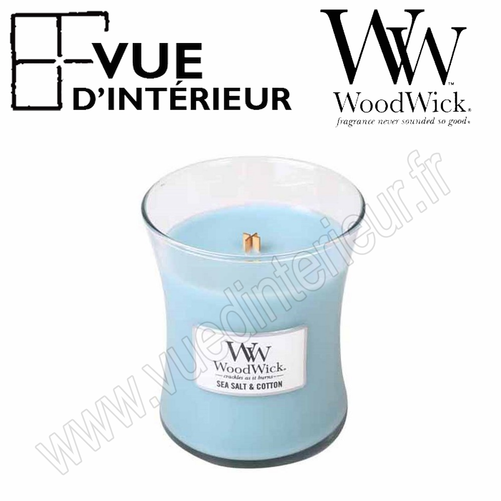Jar Medium WoodWick Sea Salt Cotton