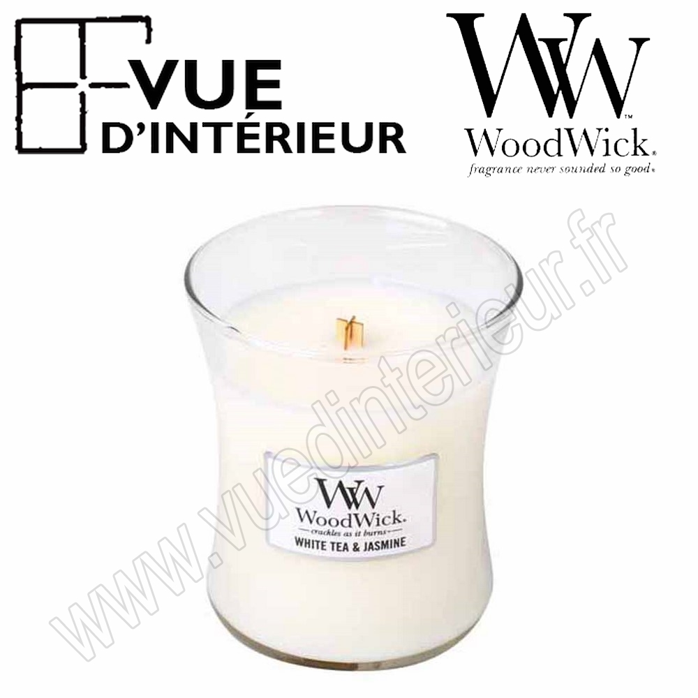 Jar Medium WoodWick White Tea Jasmin