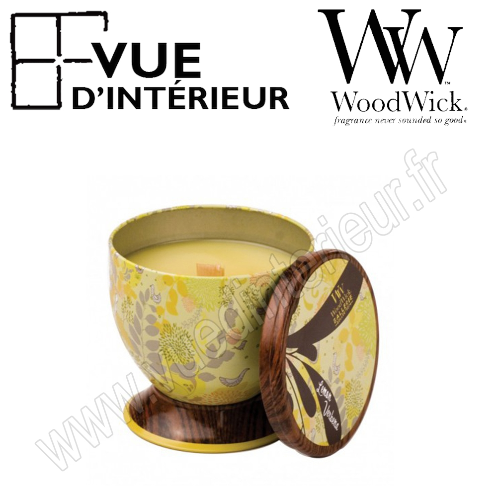 Gazllery Tin WoodWick Lemon Verbena Collection Gallerie Tin Woodwick