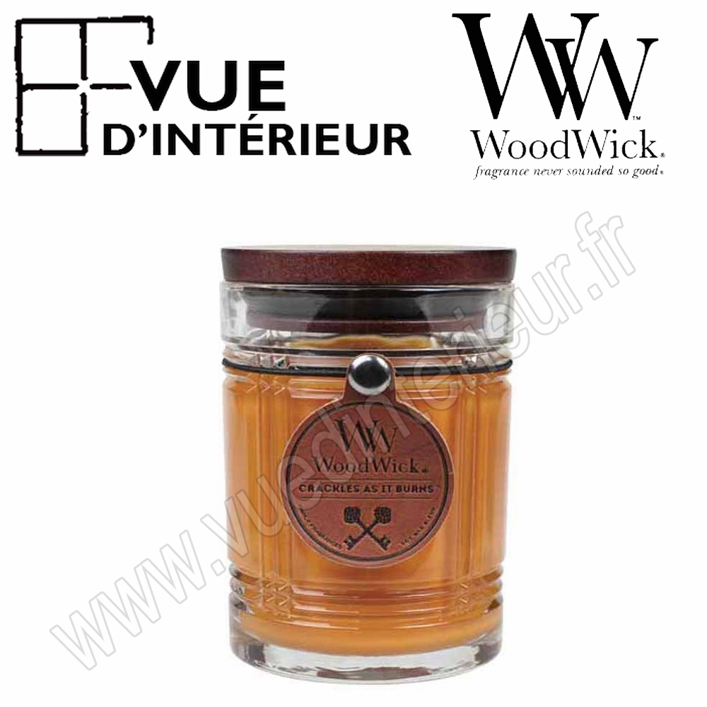 Bougie Parfum?e Leather WoodWick Collection Reserve