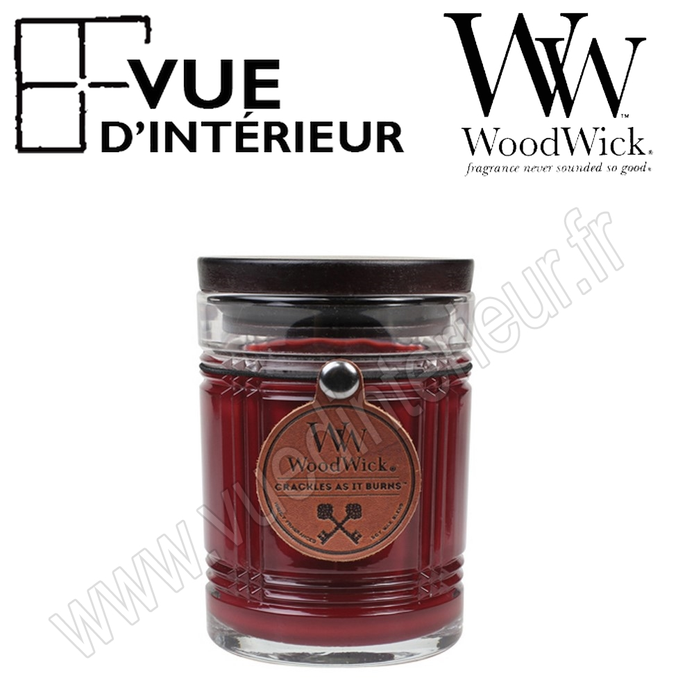 Bougie Parfum?e Mahogany WoodWick Collection Reserve