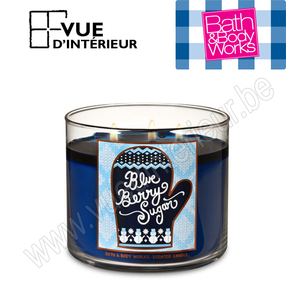 .Bougie Parfum?e Bleuberry Sugar 3 M?che 411Gr Bath And Bodyworks