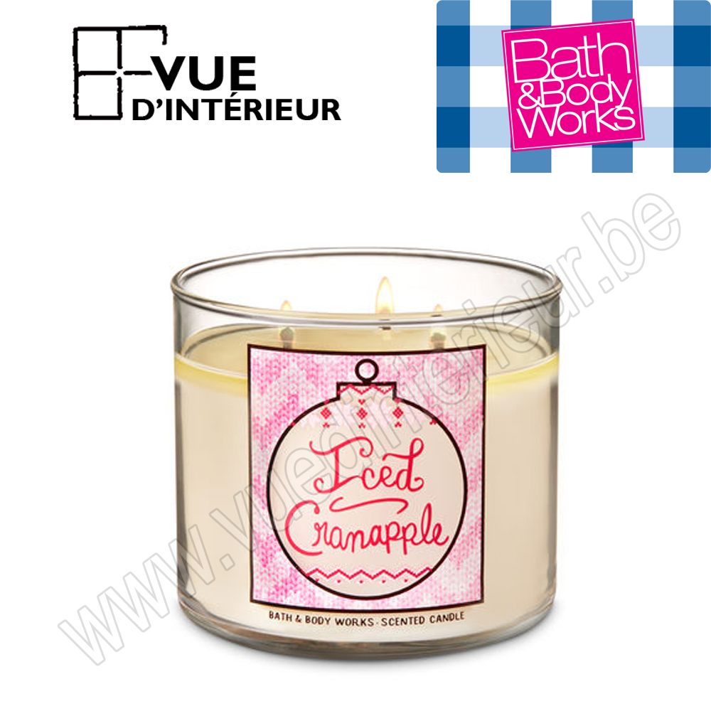 .Bougie Parfum?e Iced Cranapple 3 M?che 411Gr Bath And Bodyworks