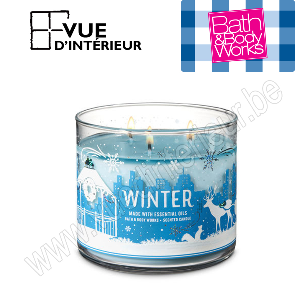 .Bougie Parfum?e Winter 3 M?che 411Gr Bath And Bodyworks